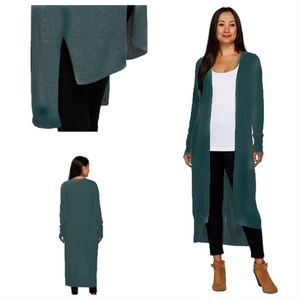 H by Halston long duster cardigan sweater 1XP